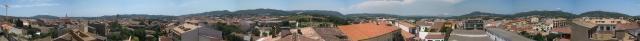 vista a l'horitzó de 360º des de Palafrugell, clikeu per ampliar