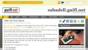 Portada de la web del grup de Sabadell
